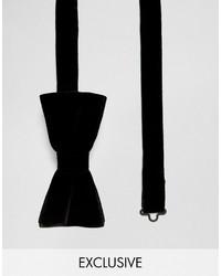 Corbatín de terciopelo negro