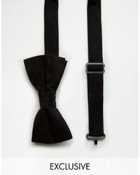 Corbatín de Terciopelo Negro de Reclaimed Vintage