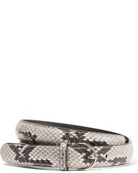 Correa con print de serpiente blanca de Acne Studios