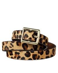Correa de ante de leopardo marrón claro