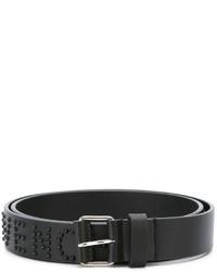 Correa de cuero con tachuelas negra de Givenchy