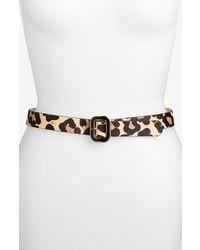 Correa de cuero de leopardo marrón claro