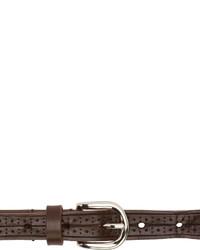 Correa de cuero en marrón oscuro de Isabel Marant