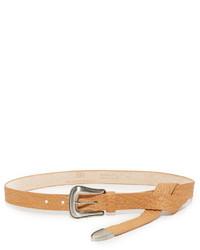 Correa de cuero marrón claro de B-Low the Belt