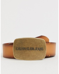 Correa de cuero marrón claro de Calvin Klein Jeans