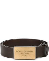 Correa de Cuero Marrón Oscuro de Dolce & Gabbana