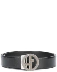 Correa de cuero negra de Giorgio Armani