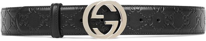 Correa de cuero negra de Gucci