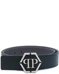 Correa de cuero negra de Philipp Plein