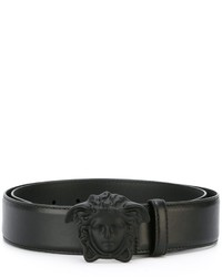 Correa de cuero negra de Versace