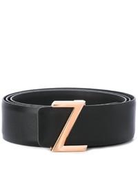 Correa de cuero negra de Z Zegna
