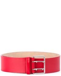 Correa de cuero roja de Alexander McQueen