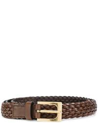 Correa de cuero tejida marrón de Tom Ford