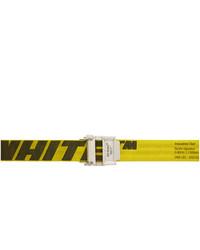 Correa de lona en amarillo verdoso de Off-White