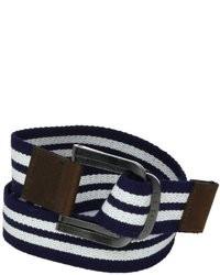 Correa de lona en blanco y azul marino