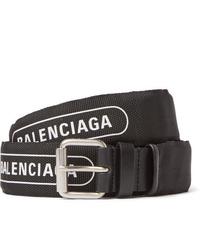 Correa de lona en negro y blanco de Balenciaga