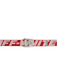 Correa de lona en rojo y blanco de Off-White