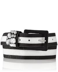 Correa de rayas horizontales en blanco y negro
