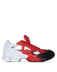 Deportivas de cuero en blanco y rojo de Adidas By Raf Simons