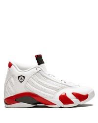 Deportivas de cuero en blanco y rojo de Jordan