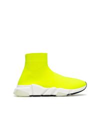 Deportivas en amarillo verdoso de Balenciaga