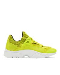 Deportivas en amarillo verdoso de Kenzo