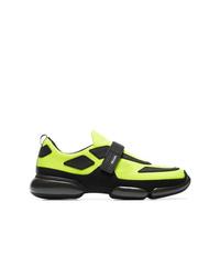 Deportivas en amarillo verdoso de Prada