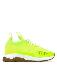 Deportivas en amarillo verdoso de Versace