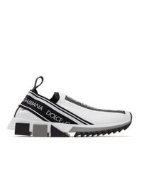 Deportivas en blanco y negro de Dolce and Gabbana
