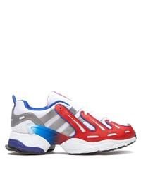 Deportivas en blanco y rojo y azul marino de adidas