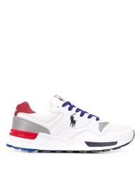 Deportivas en blanco y rojo y azul marino de Polo Ralph Lauren