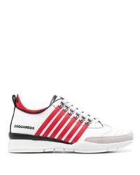 Deportivas en blanco y rojo de DSQUARED2