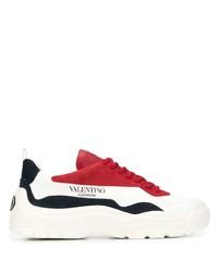 Deportivas en blanco y rojo de Valentino