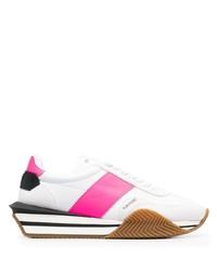 Deportivas en blanco y rosa de Tom Ford