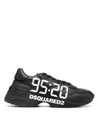 Deportivas en negro y blanco de DSQUARED2