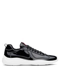 Deportivas en negro y blanco de Prada