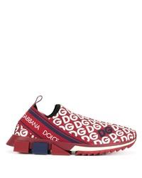 Deportivas en rojo y blanco de Dolce & Gabbana