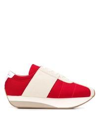 Deportivas en rojo y blanco de Marni