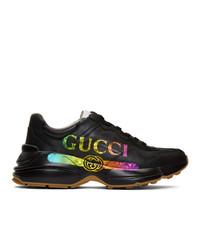 Deportivas estampadas negras de Gucci