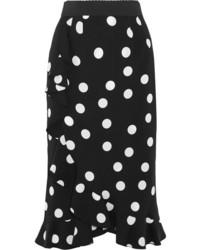Falda a Lunares Negra de Dolce & Gabbana