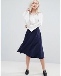 Falda azul marino de French Connection