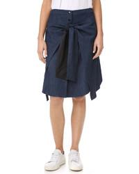 Falda azul marino de Rag & Bone