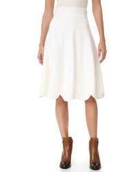 Falda blanca de Salvatore Ferragamo