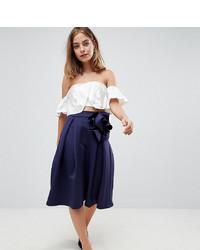 Falda campana azul marino de Asos Petite