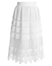 Falda campana blanca de Chi Chi London Tall