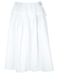 Falda campana blanca de Chloé