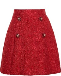 Falda campana con relieve roja de Dolce & Gabbana