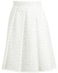 Falda campana de encaje blanca
