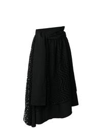Falda campana de encaje negra de Yohji Yamamoto Vintage