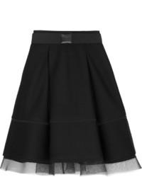Falda campana de malla negra